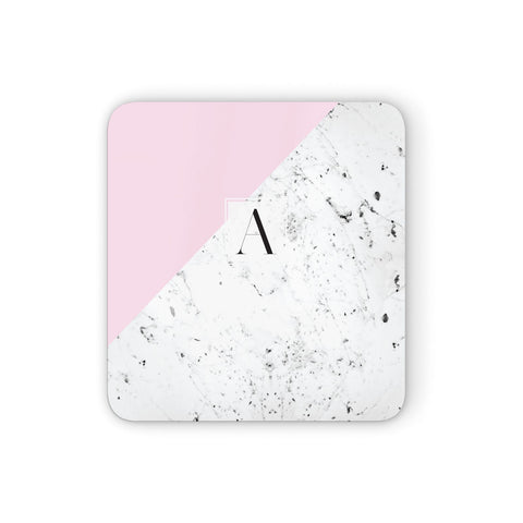 Personalised Monogram Initial Letter Marble Coasters set of 4