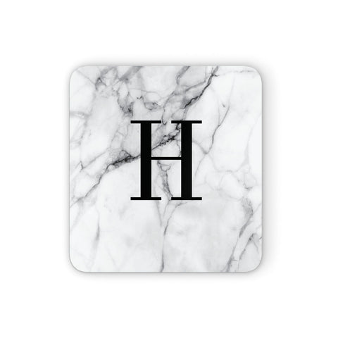 Personalised Monogram Marble Initial Coasters set of 4