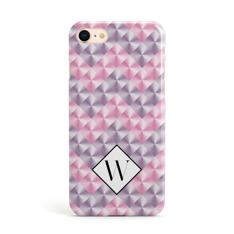 Personalised Mother Of Pearl Monogram Letter Apple iPhone Case