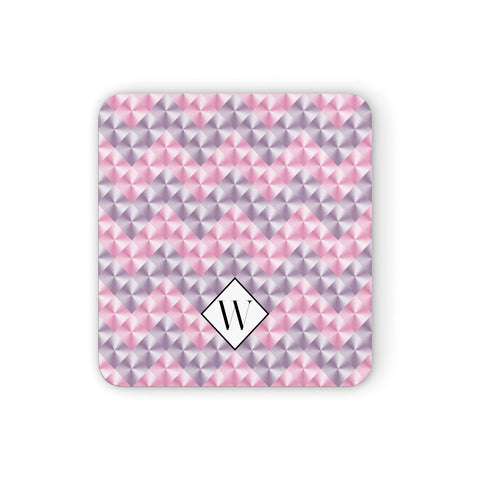Personalised Mother Of Pearl Monogram Letter Coasters set of 4