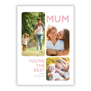 Personalised Mothers Day A5 Flat Greetings Card
