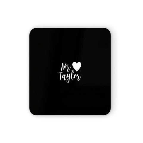 Personalised Mr Coasters set of 4