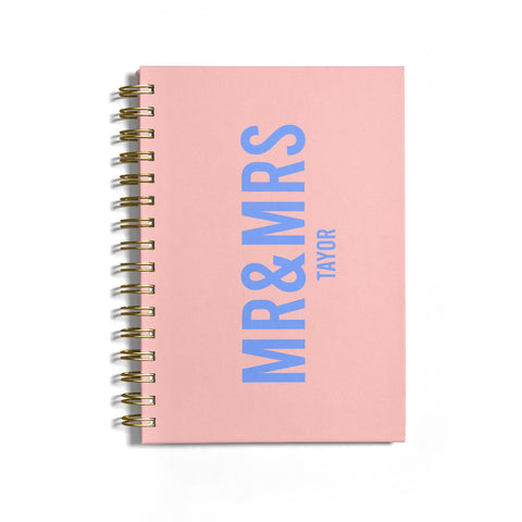 Personalised Mr and Mrs Notebook