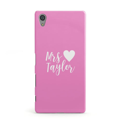 Personalised Mrs Sony Case