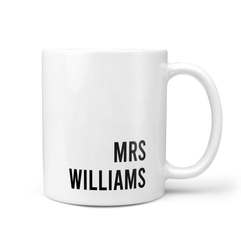 Personalised Mrs Surname Mug