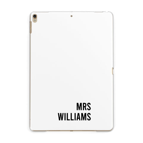 Personalised Mrs Surname iPad Case