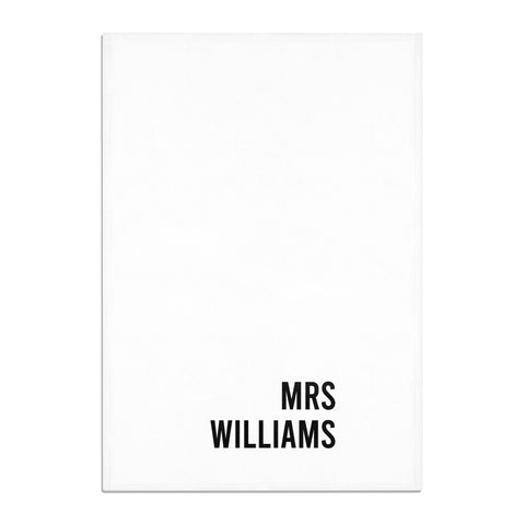 Personalised Mrs Surname Tea Towel