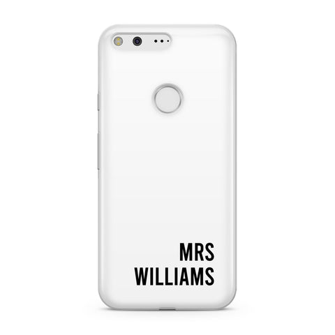 Personalised Mrs Surname Google Case