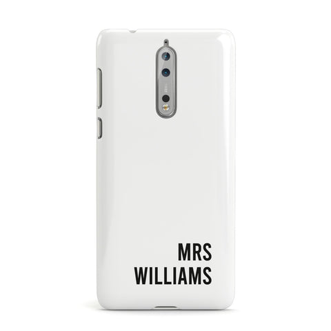 Personalised Mrs Surname Nokia Case