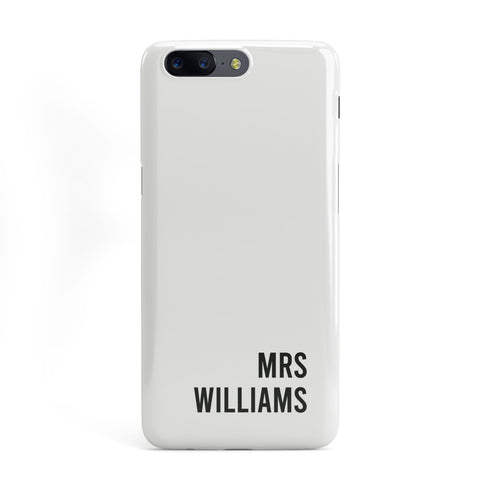 Personalised Mrs Surname OnePlus Case