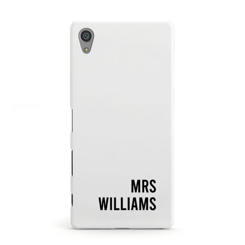 Personalised Mrs Surname Sony Case