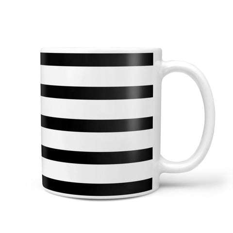 Personalised Name Black White Mug