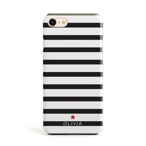 Personalised Name Black White Apple iPhone Case