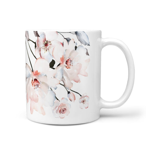Personalised Name Roses Watercolour Mug
