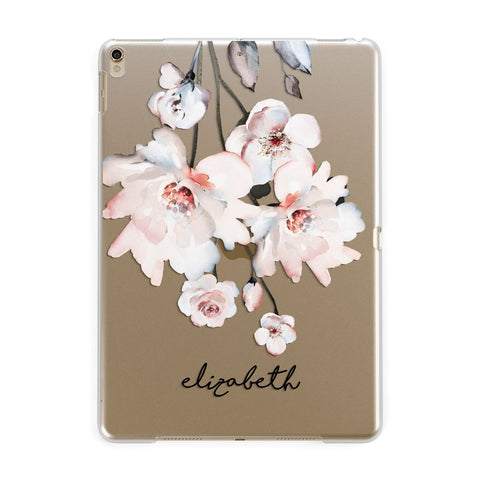 Personalised Name Roses Watercolour iPad Case