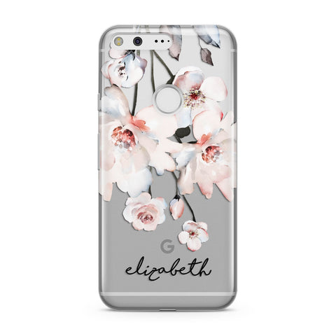 Personalised Name Roses Watercolour Google Case