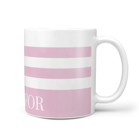 Personalised Name Striped Mug