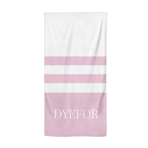 Personalised Name Striped Beach Towel