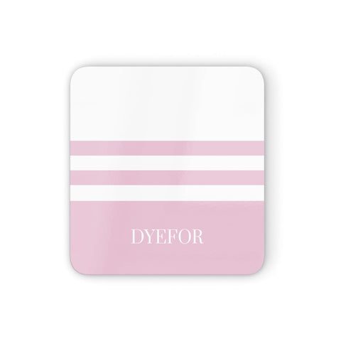 Personalised Name Striped Coasters set of 4