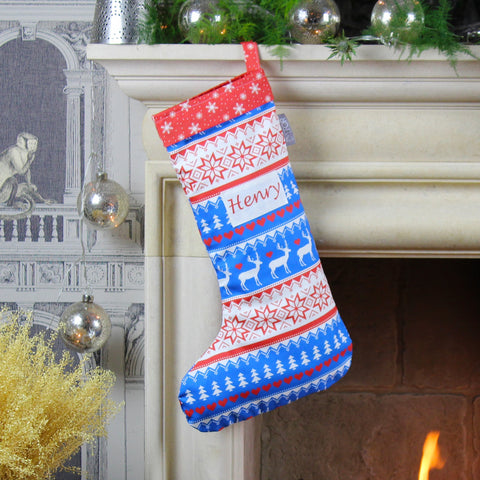 Personalised Nordic Christmas Stocking