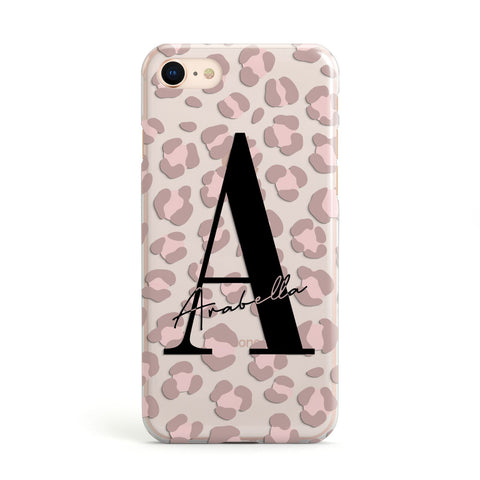 Personalised Nude Pink Leopard iPhone Case