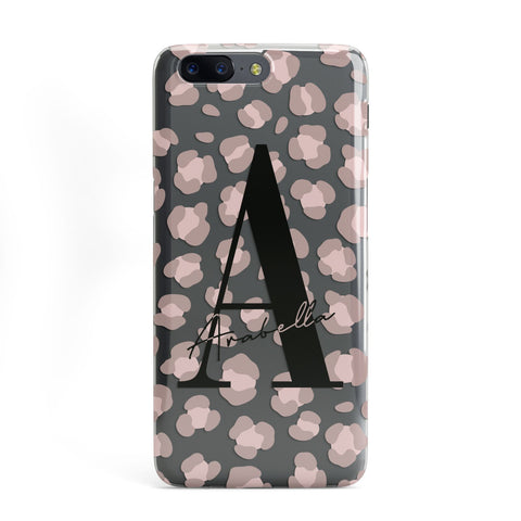 Personalised Nude Pink Leopard OnePlus Case