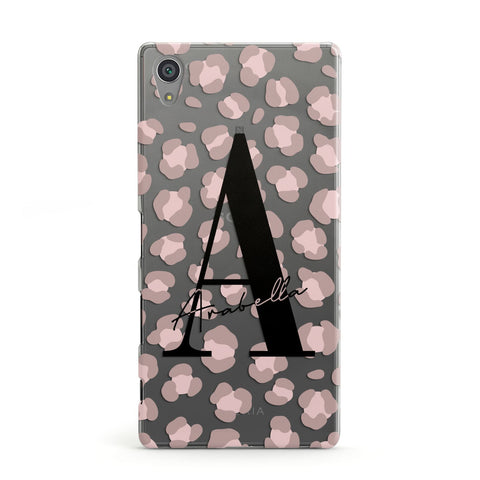 Personalised Nude Pink Leopard Sony Case