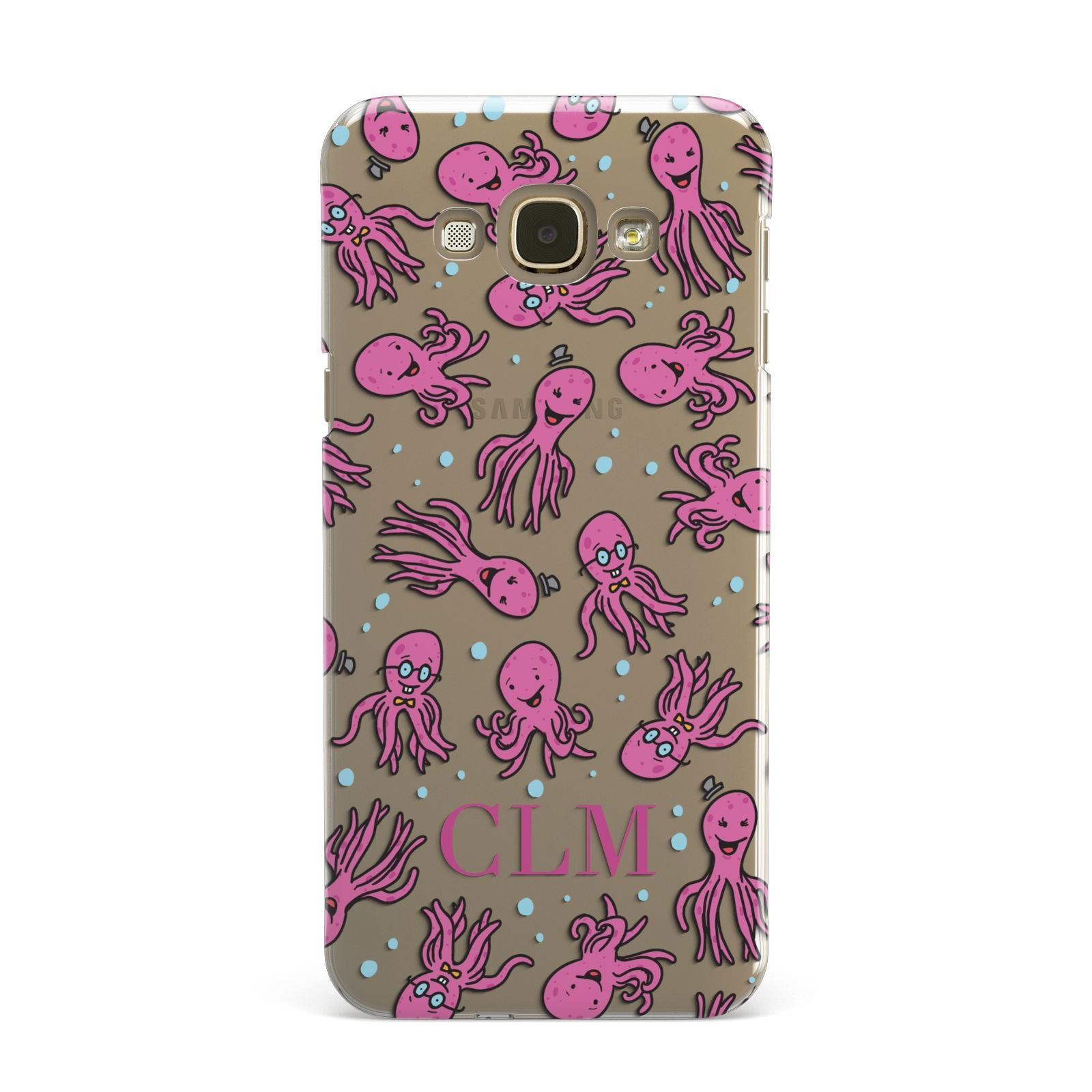 Personalised Octopus Initials Samsung Galaxy A8 Case