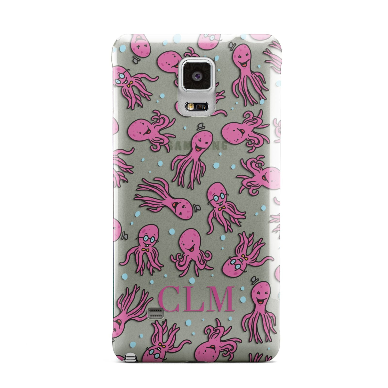 Personalised Octopus Initials Samsung Galaxy Note 4 Case