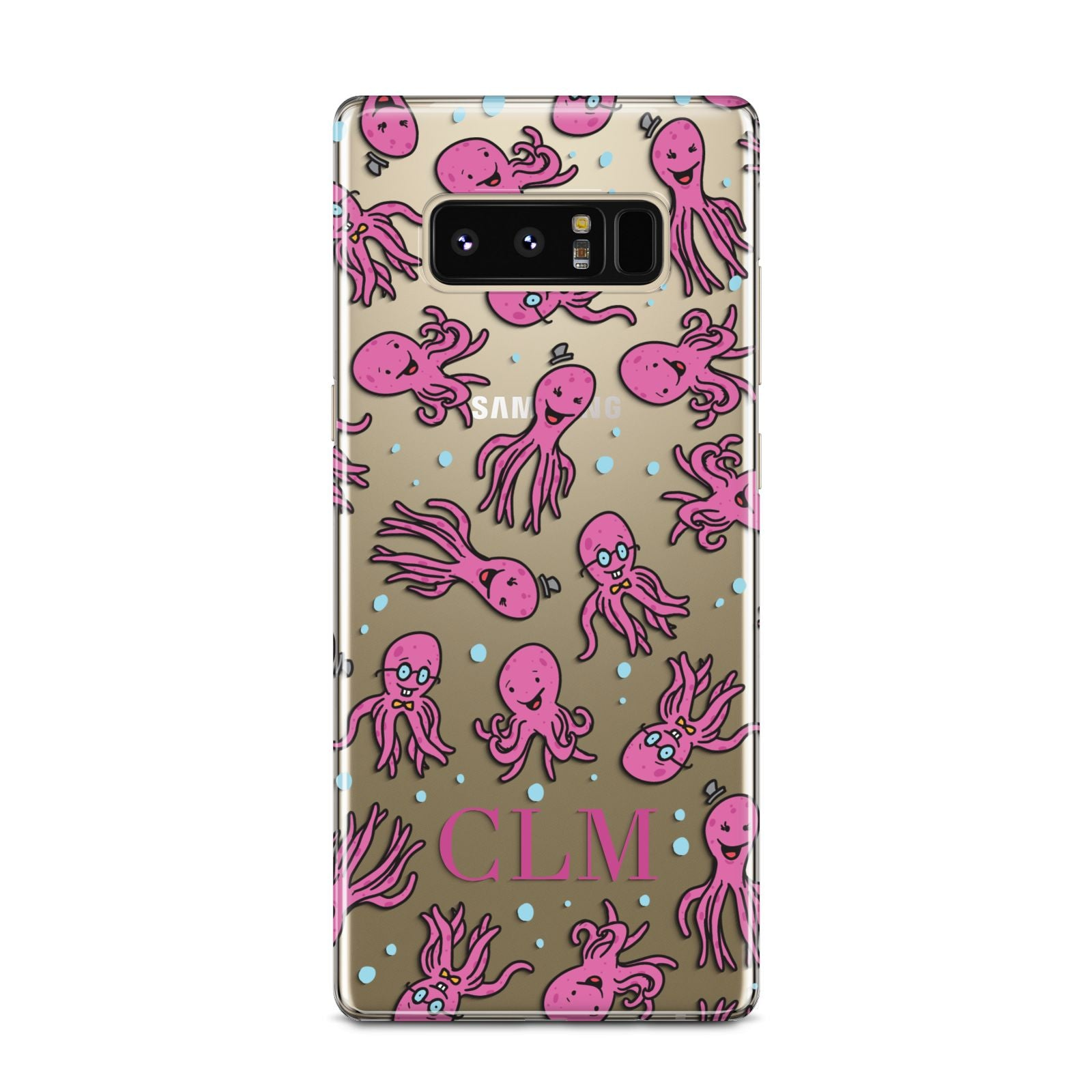 Personalised Octopus Initials Samsung Galaxy Note 8 Case