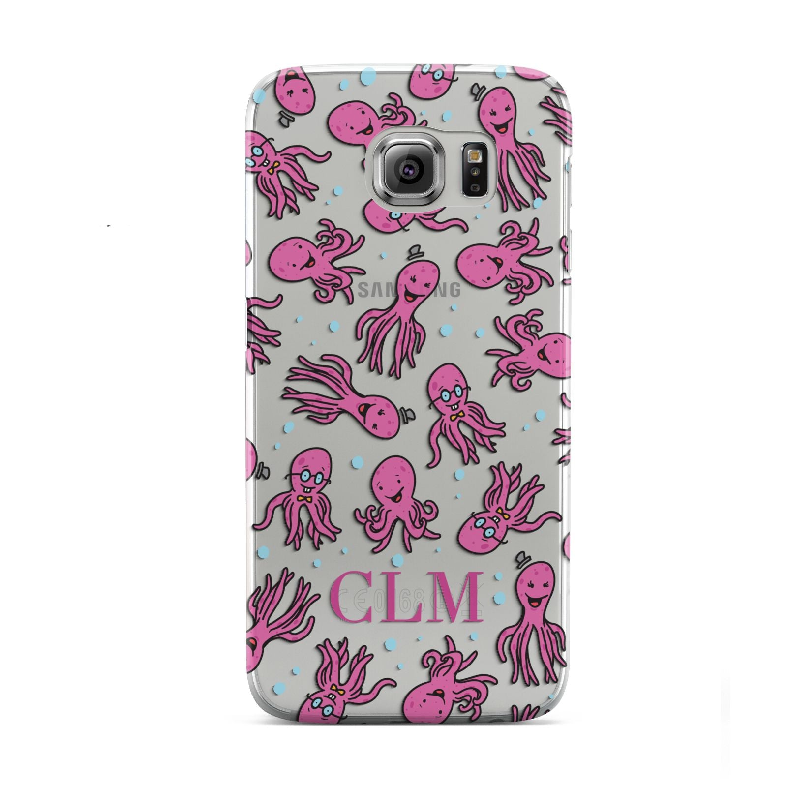 Personalised Octopus Initials Samsung Galaxy S6 Case