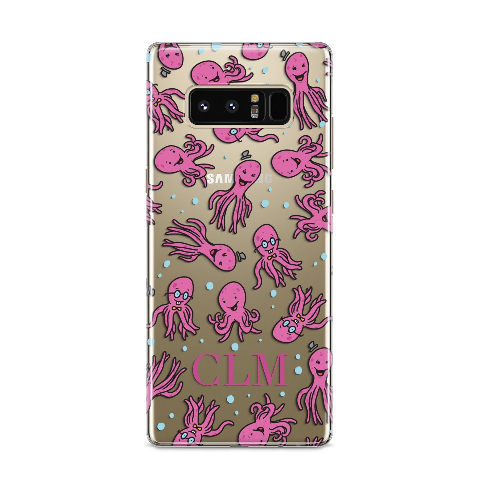 Personalised Octopus Initials Samsung Galaxy S8 Case