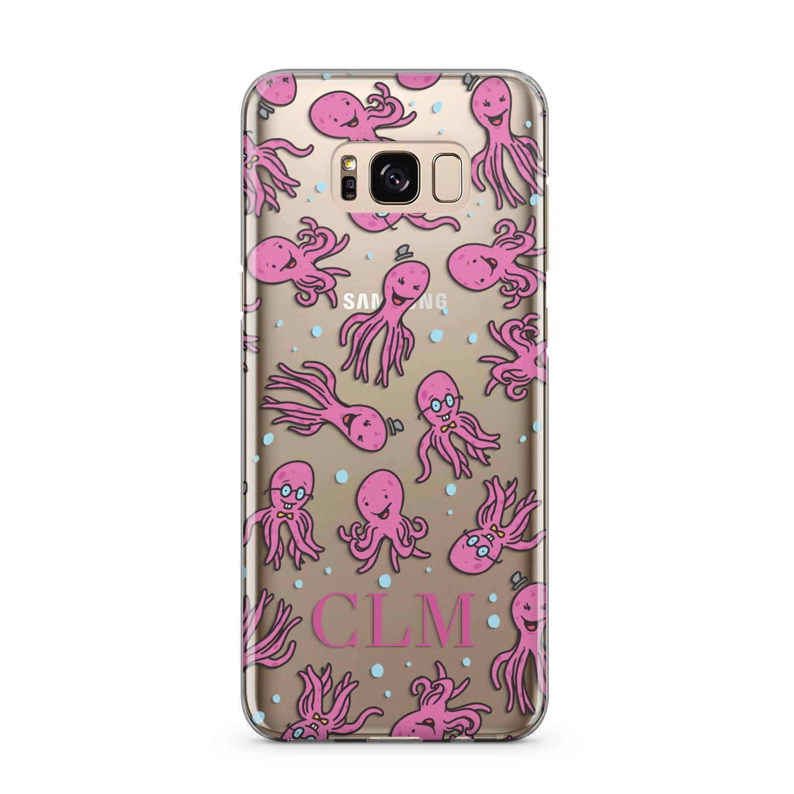 Personalised Octopus Initials Samsung Galaxy S8 Plus Case