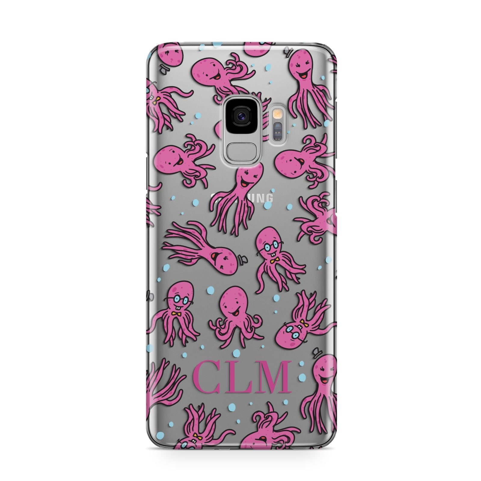 Personalised Octopus Initials Samsung Galaxy S9 Case