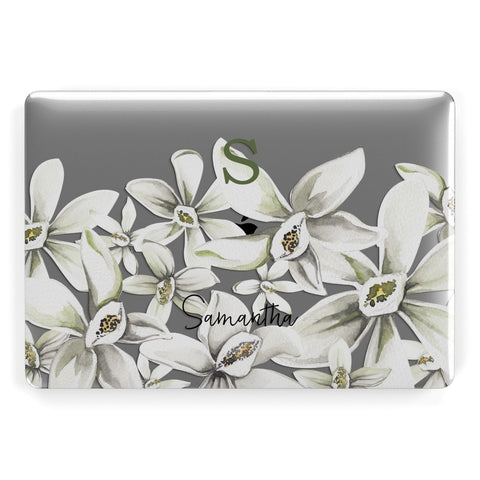 Personalised Orange Blossom Macbook Case