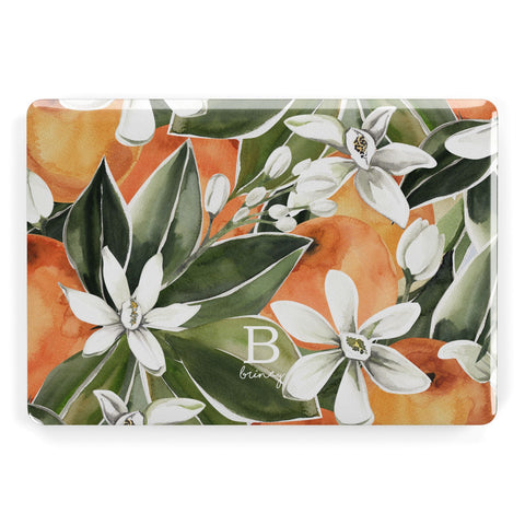 Personalised Orange Tree Macbook Case