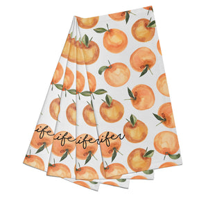 Personalised Oranges Name Cotton Napkins Set of 4