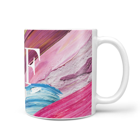 Personalised Paint Brush & Initials Mug