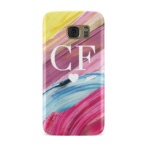 Personalised Paint Brush & Initials Samsung Galaxy Case