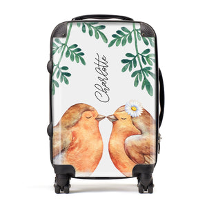 Personalised Pair of Robins Suitcase