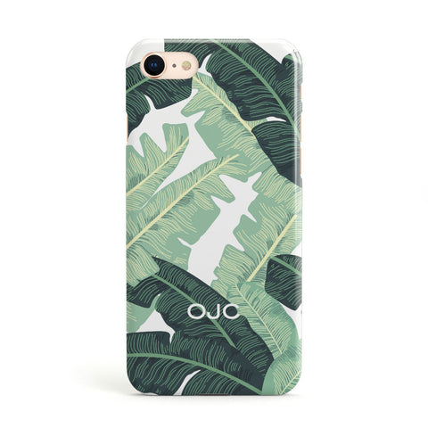 Personalised Palm Banana Leaf Apple iPhone Case