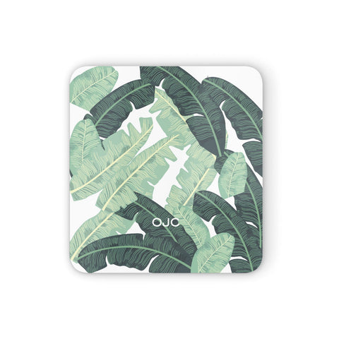 Personalised Palm Banana Leaf Coasters set of 4