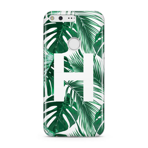 Personalised Palm Monstera Leaf Tropical Print Google Case
