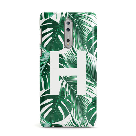Personalised Palm Monstera Leaf Tropical Print Nokia Case