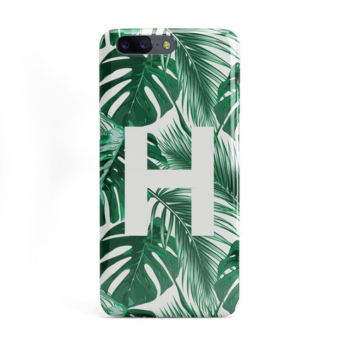 Personalised Palm Monstera Leaf Tropical Print OnePlus Case