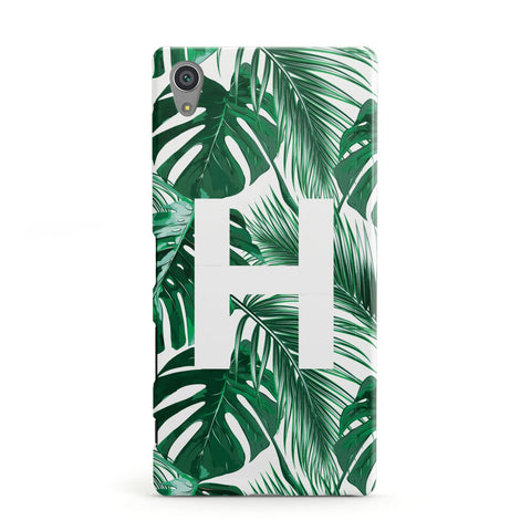 Personalised Palm Monstera Leaf Tropical Print Sony Case