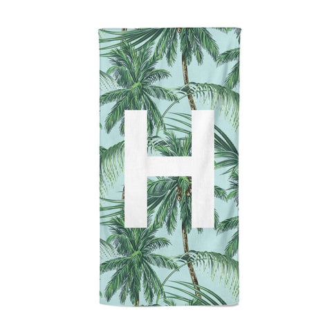 Personalised Palm Tree Tropical Beach Towel