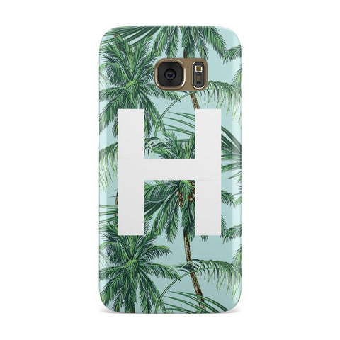Personalised Palm Tree Tropical Samsung Galaxy Case
