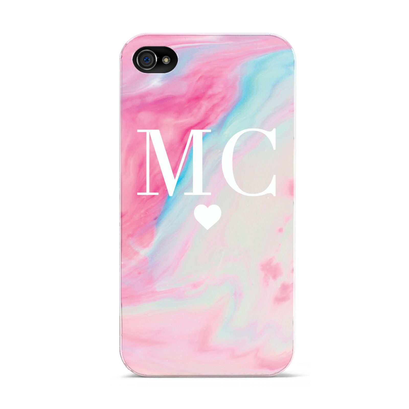 Personalised Pastel Marble Initials Apple iPhone 4s Case