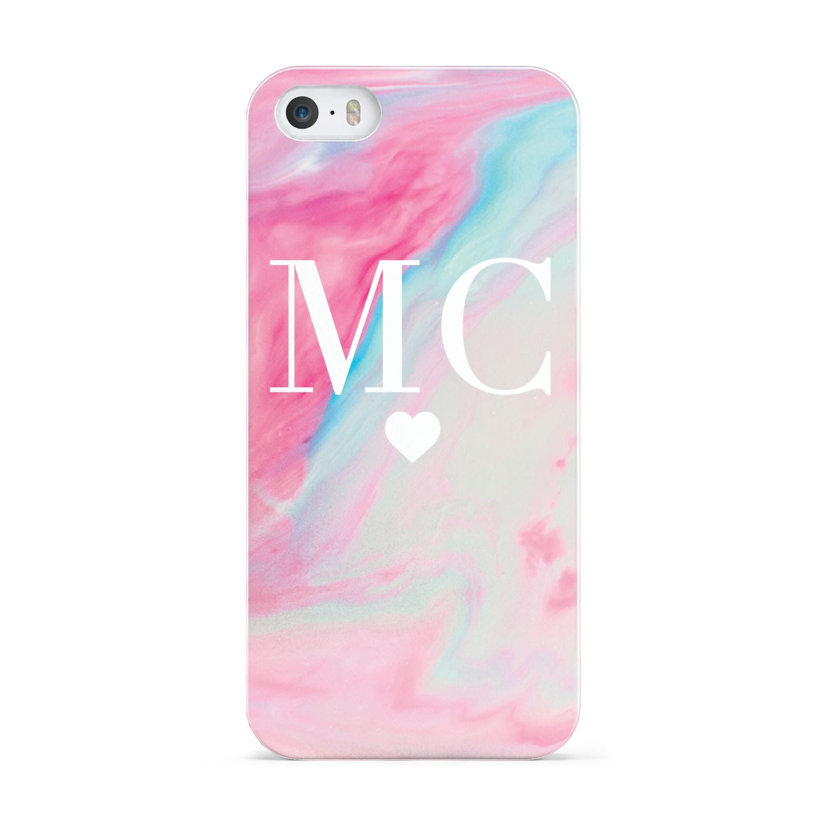 Personalised Pastel Marble Initials Apple iPhone 5 Case